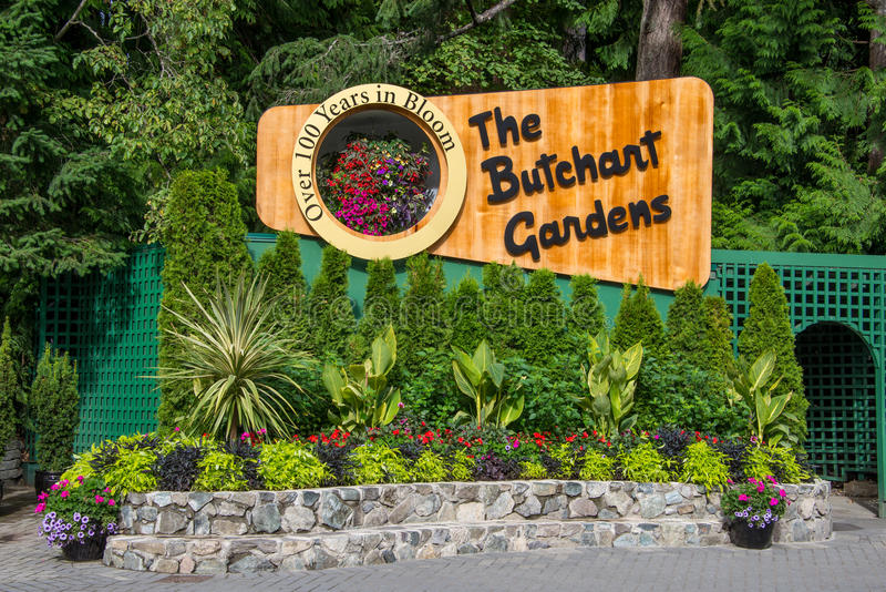 Signage for butchart gardens victoria bc canada editorial download signage for butchart gardens victoria bc canada editorial photography image of thecheapjerseys Choice Image