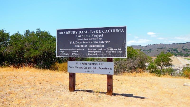 Signage Cachuma озера запруд Bradebury бесплатная иллюстрация