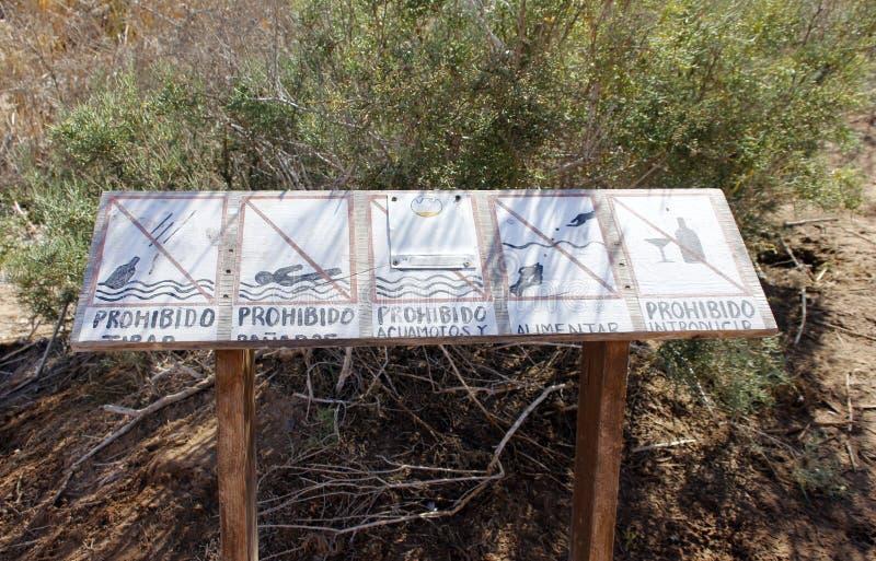Signage chez le Ciénega De Santa Clara, Mexique images libres de droits