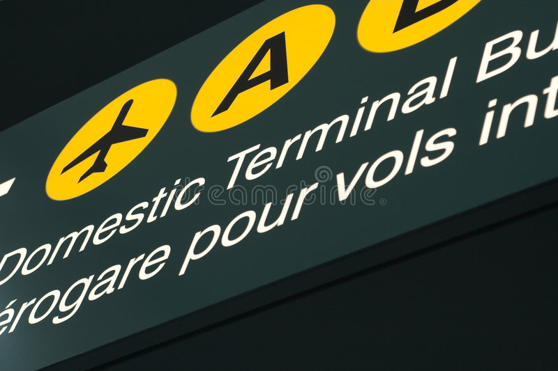 Download Signage d'aéroport image stock. Image du indicateur, aviation - 726377