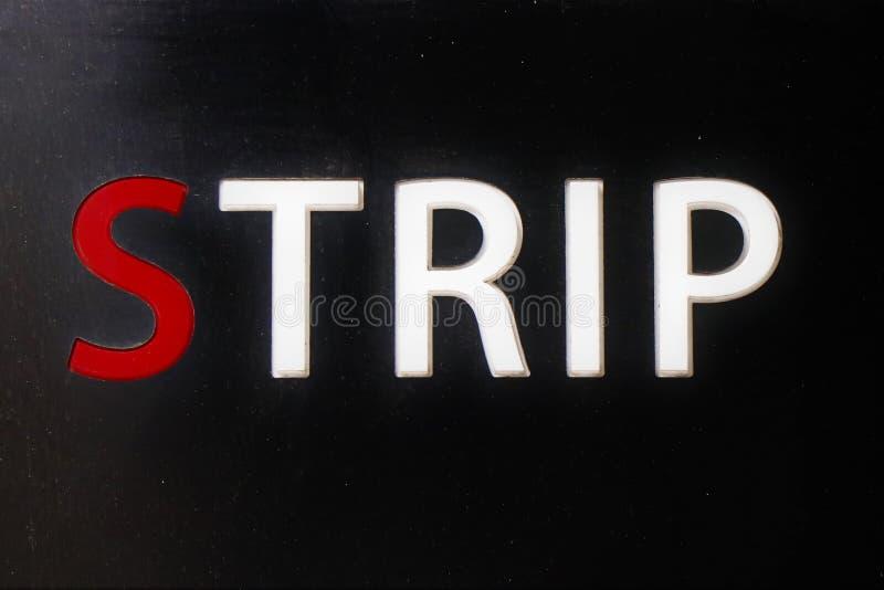 Signage d'un club de strip-tease photo libre de droits