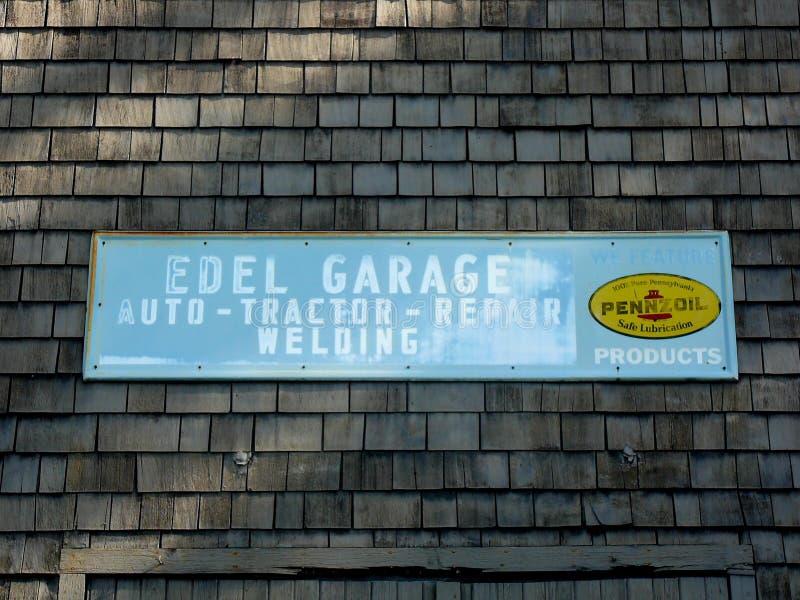 Signage da Auto-Trator-Reparo-soldadura da garagem de Edel ilustração royalty free