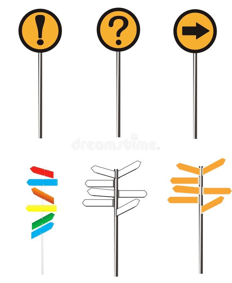 Signage da estrada ilustração stock