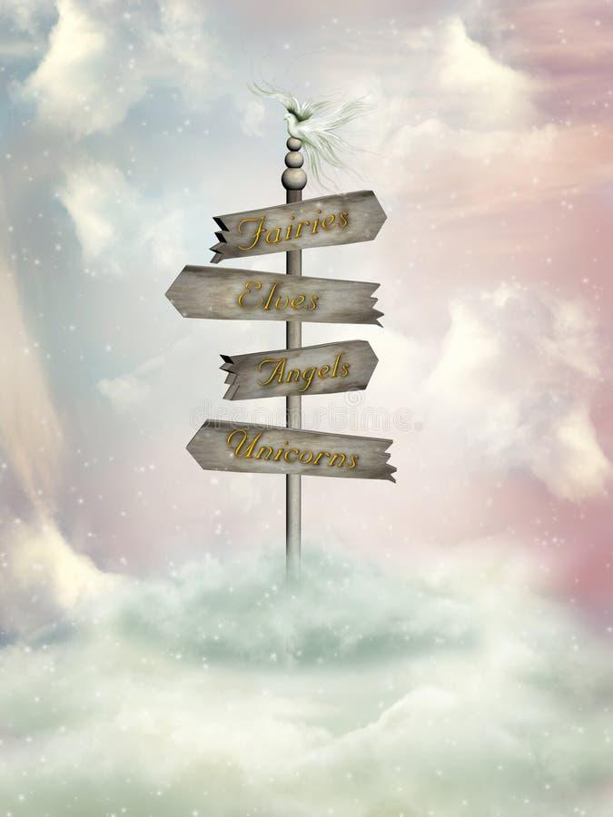 Signage da fantasia ilustração stock