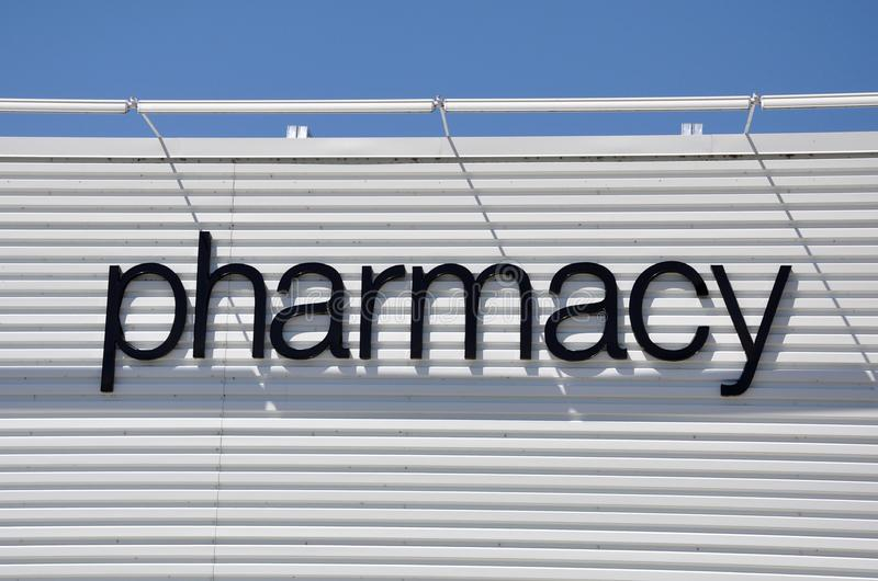 Signage da farmácia imagens de stock royalty free