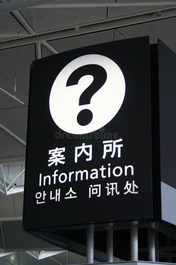 Signage da informação imagem de stock