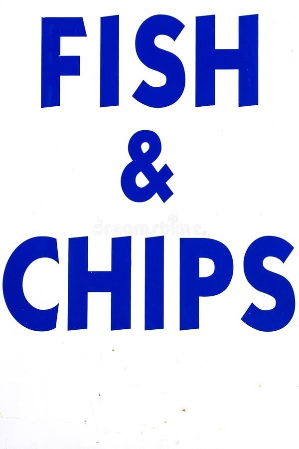 Signage da loja que vende o peixe com batatas fritas foto de stock royalty free