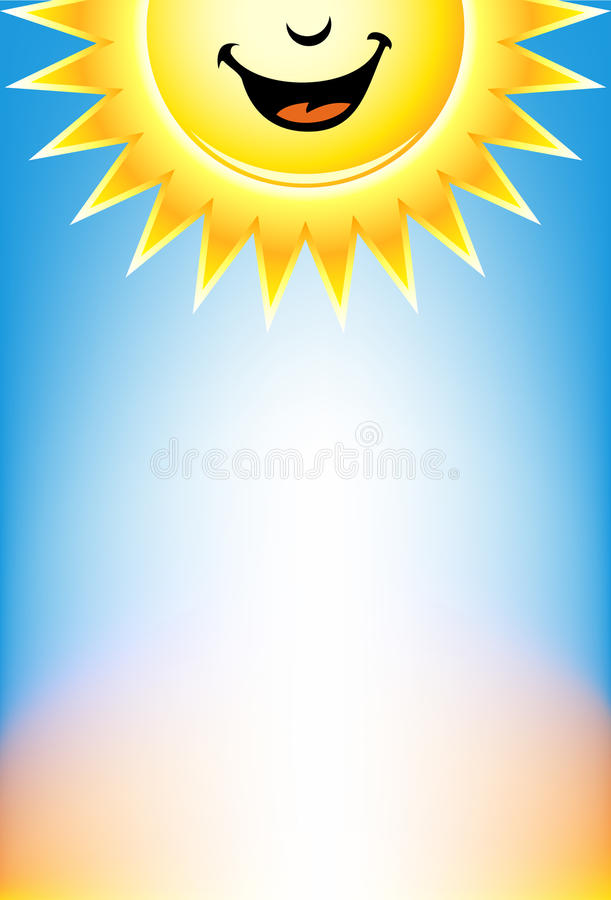 Signage da luz do sol ilustração stock