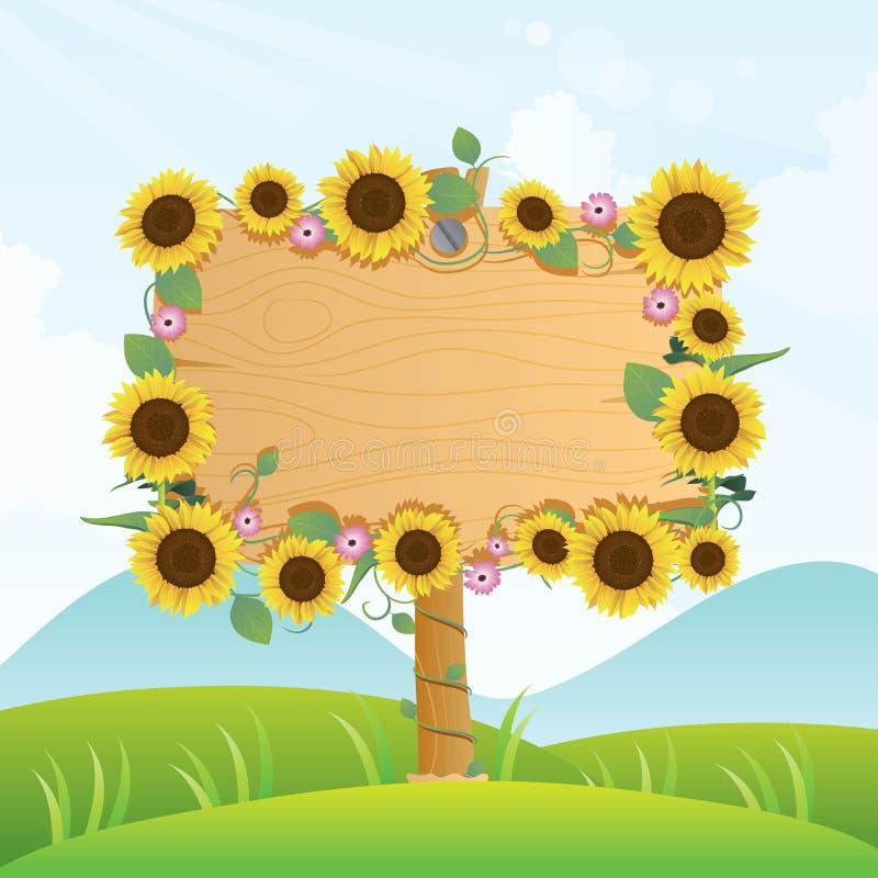 Signage da madeira do verão ilustração stock