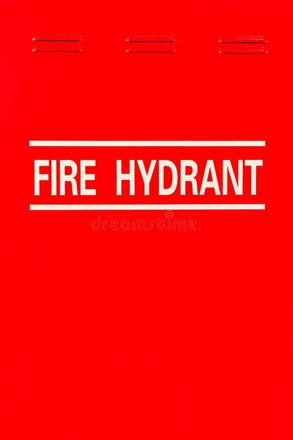 Signage de bouche d'incendie photographie stock