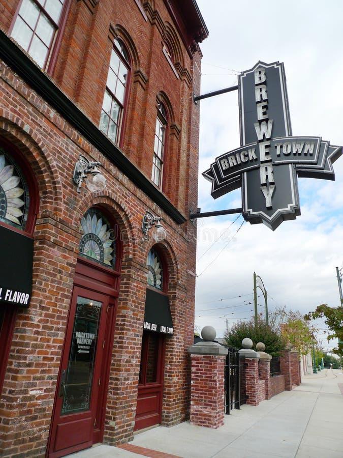 Signage de brasserie de Bricktown, Fort Smith, Arkansas photos stock