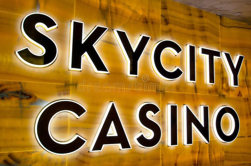 Signage de casino de SKYCITY photo libre de droits