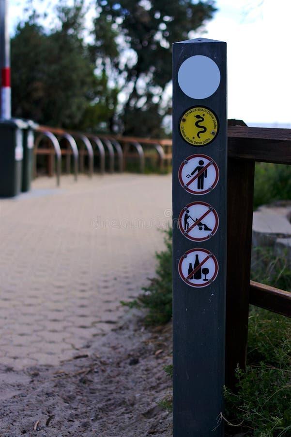 Signage de conseils de parc public images libres de droits