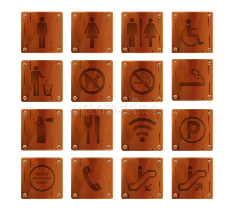 Signage de madeira ilustração do vetor