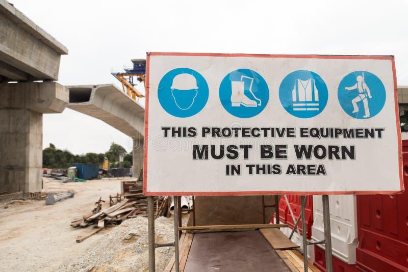 Signage de sécurité de chantier de construction images libres de droits