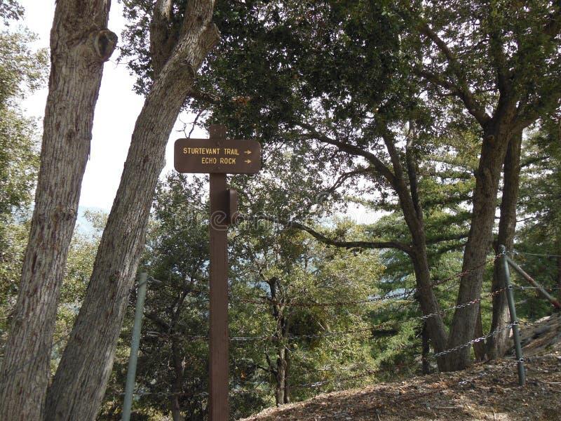 Signage de traînée au Mt wilson photographie stock libre de droits