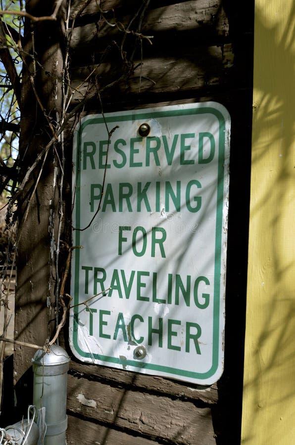 Signage dla podróżnego nauczyciela zdjęcie royalty free