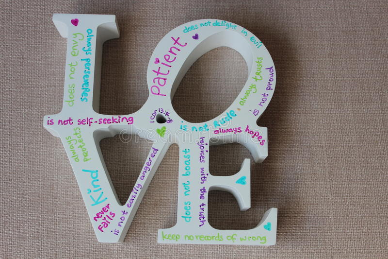 Signage do amor fotos de stock