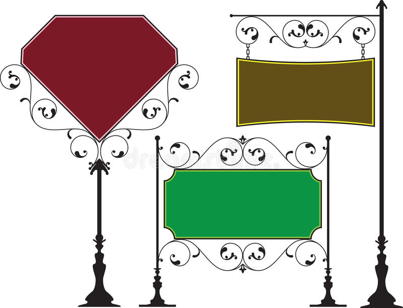 Signage do ferro forjado ilustração royalty free