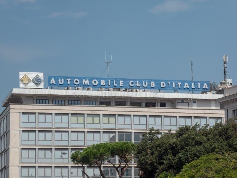 Signage do italiano ACI imagem de stock
