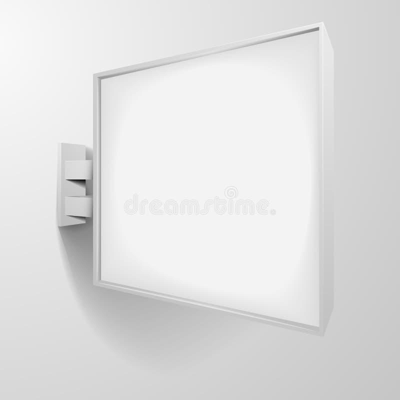 Signage do quadrado branco ilustração royalty free