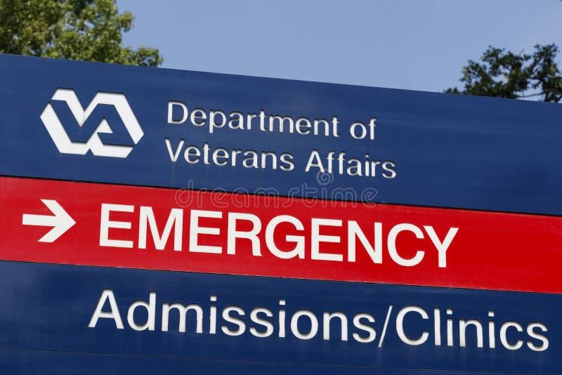 Signage e logotipo dos casos dos veteranos O VA proporciona serviços dos cuidados médicos aos veteranos militares VII imagem de stock royalty free