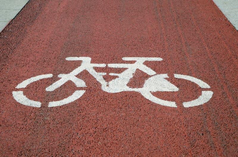 Signage för cykelgränd royaltyfria bilder