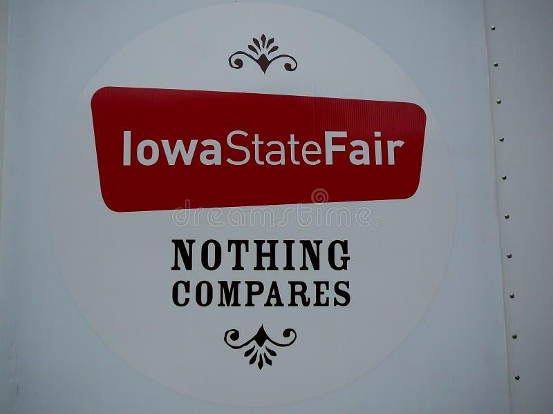 Signage justo do estado de Iowa ilustração do vetor