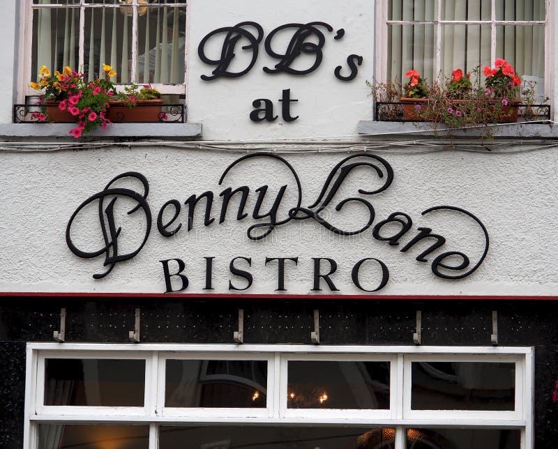 Signage para restaurantes na Irlanda de Tralee fotos de stock