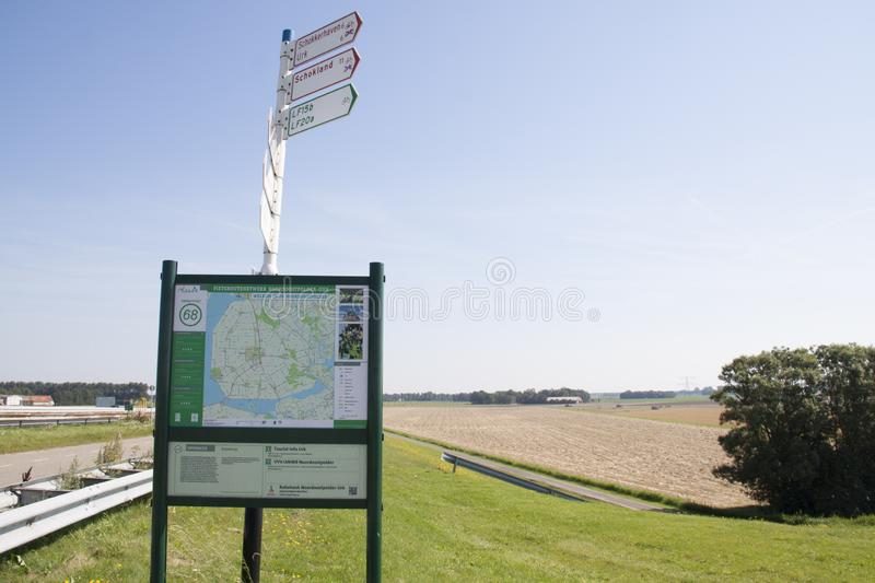 Signage in the polder royalty free stock photos