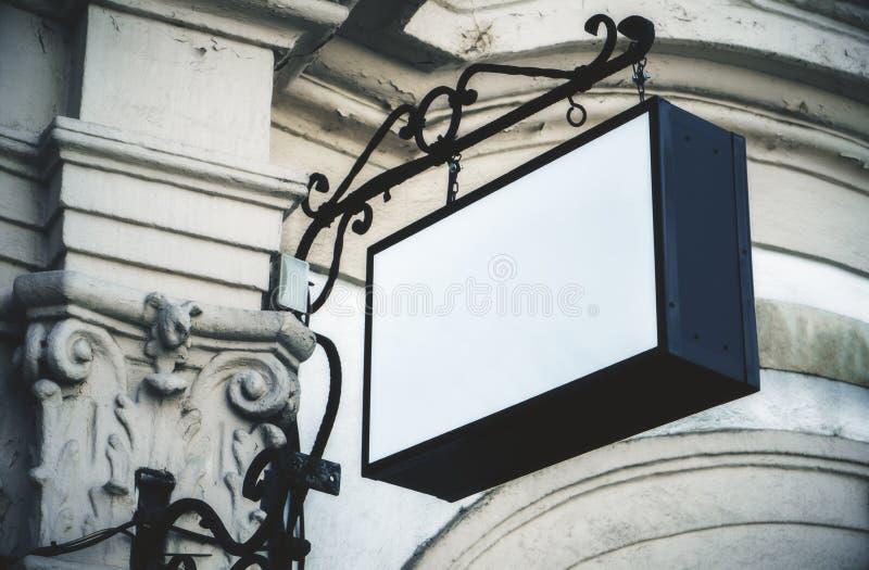Signage rectangulaire blanc vide image libre de droits