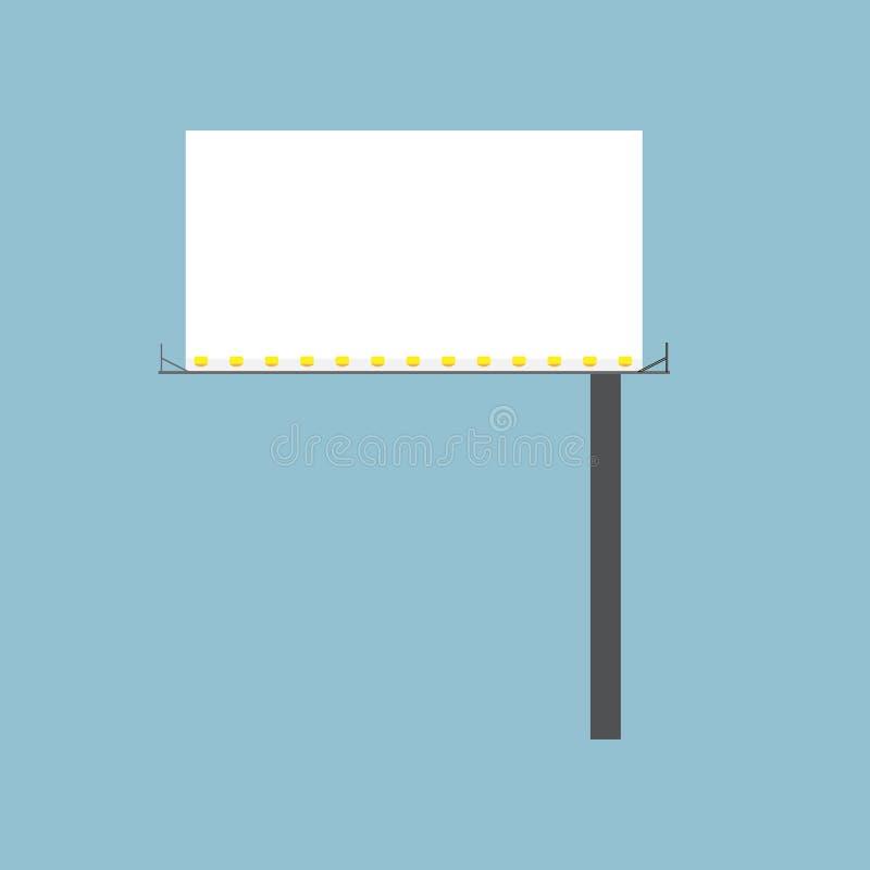 Signage van de aanplakbordweg verticale vector het pictogramadvertentie van het aanbiedings vooraanzicht Het element van de de st stock illustratie