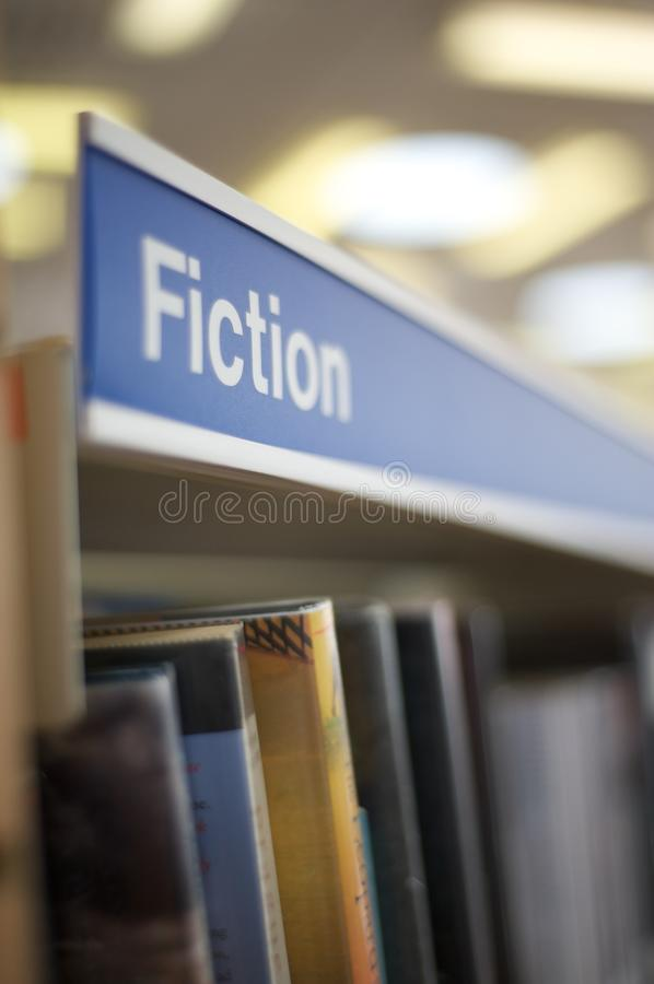 Signage van de fictie in bibliotheek royalty-vrije stock fotografie