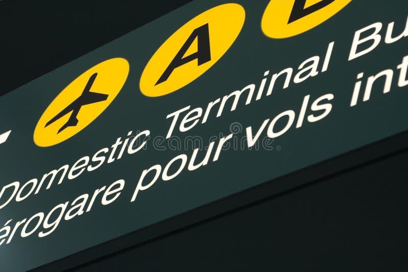 Signage van de luchthaven royalty-vrije stock fotografie