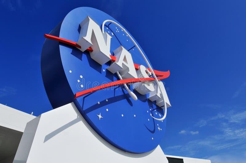 Signage van het Embleem van NASA stock foto's