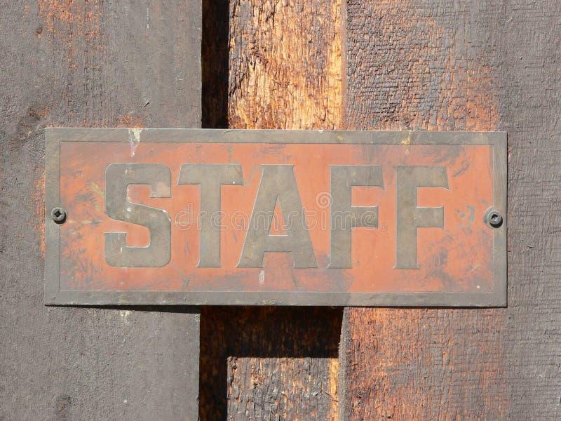 Download Signage van het personeel stock foto. Afbeelding bestaande uit calgary - 285306
