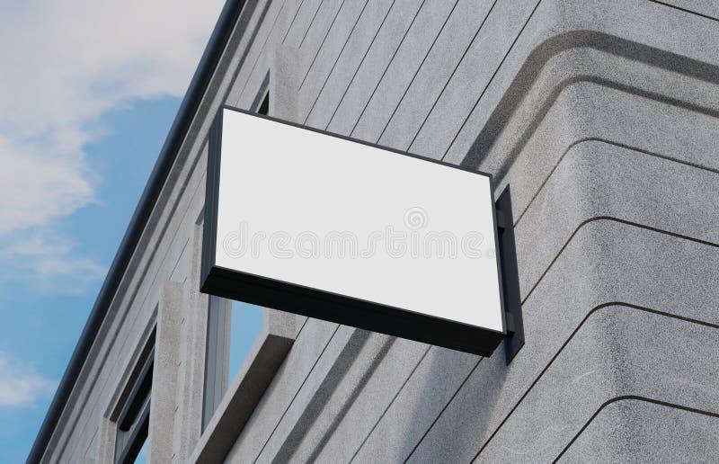 Signage vazio, exterior, modelo do quadro indicador, sinal rendição 3d ilustração stock