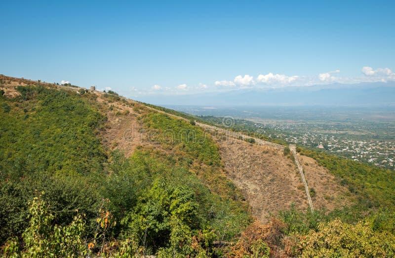 Signagi city walls. In Kakheti region in Georgia stock image