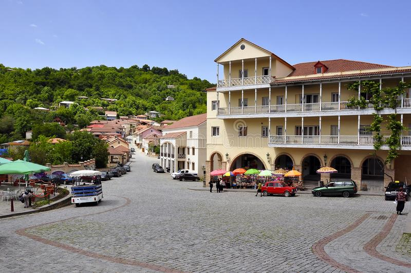 Signakhi - city of Love, Kakheti region, Georgia royalty free stock photography