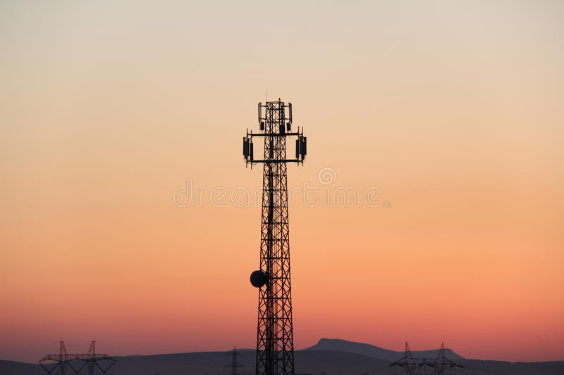 Download Signal stock image. Image of mobile, evening, telecommunication - 19575151