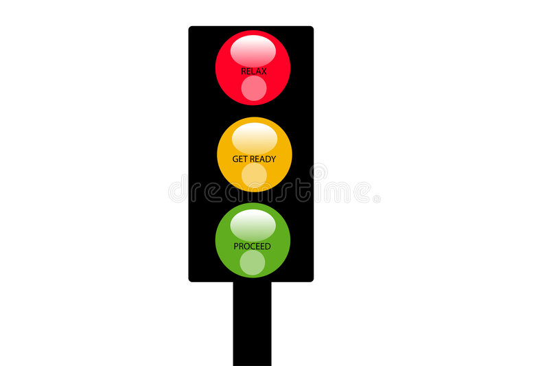 Download The signal stock illustration. Image of rules, road, colors - 2212166