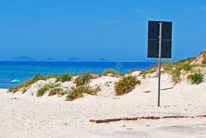 Signal At The Beach Royalty Free Stock Photo