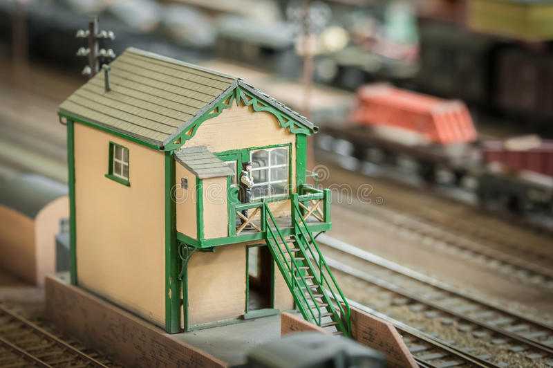 Signal box stock photo