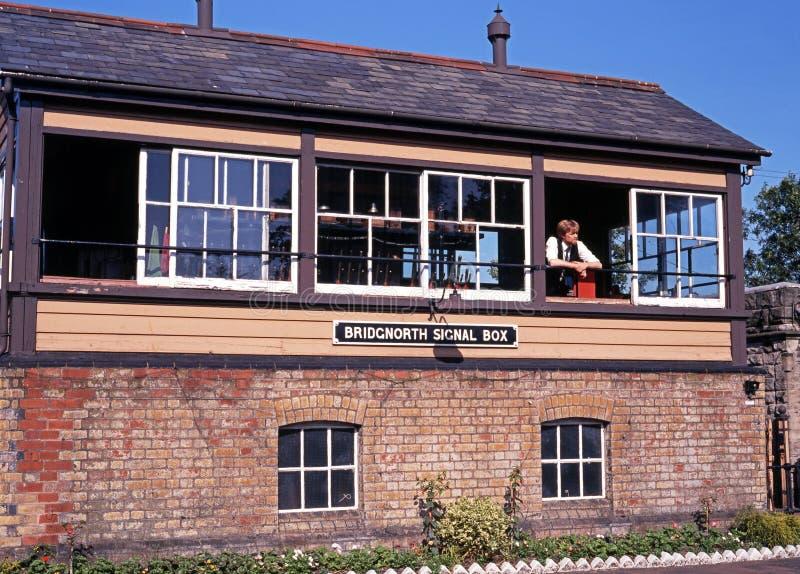 Signal box, Bridgnorth. royalty free stock photo