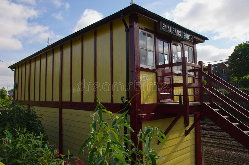 Signal Box. St Albans Signal Box built 1892 Largest preserved box in England royalty free stock photos