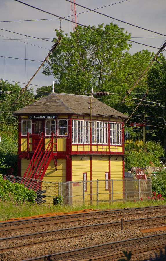 Signal Box. St Albans Signal Box built 1892 Largest preserved box in England stock photography