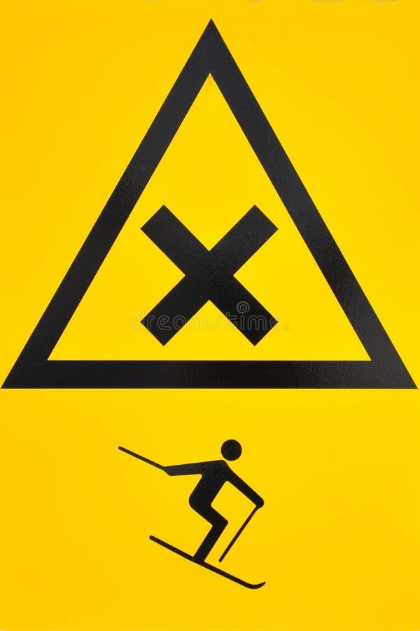 Signal d'avertissement de ski photos libres de droits