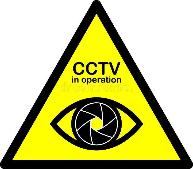 Signal d'avertissement de télévision en circuit fermé illustration stock