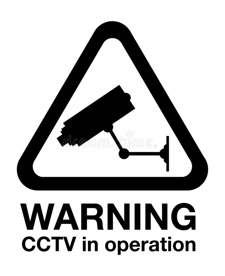 Signal d'avertissement de t?l?vision en circuit ferm? illustration de vecteur