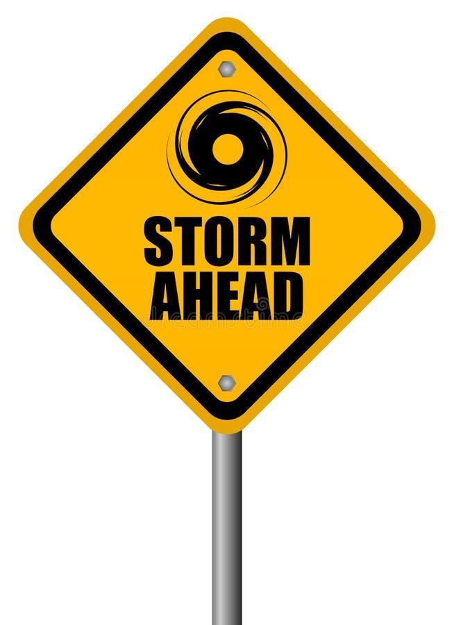 Signal d'avertissement de tempête illustration libre de droits